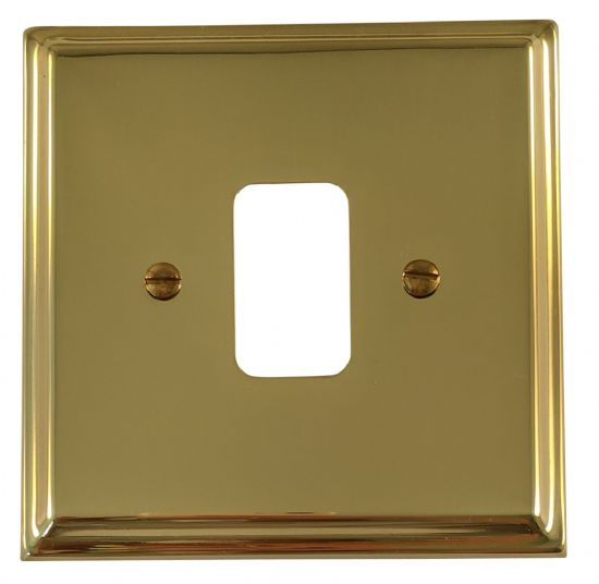 G&H Deco Plate Polished Brass